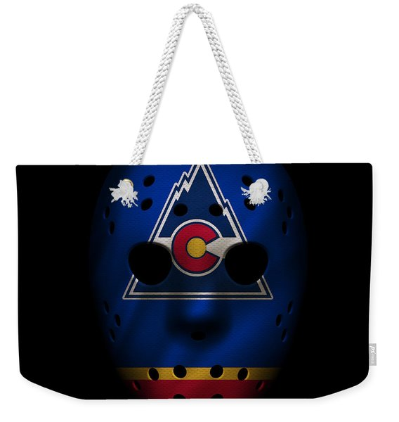Rockies Jersey Mask Weekender Tote Bag