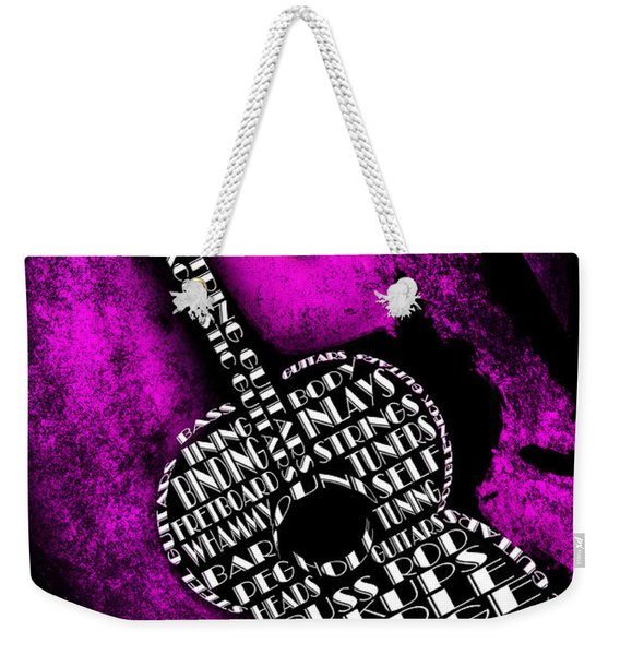 Rockin Guitar In Pink Weekender Tote Bag