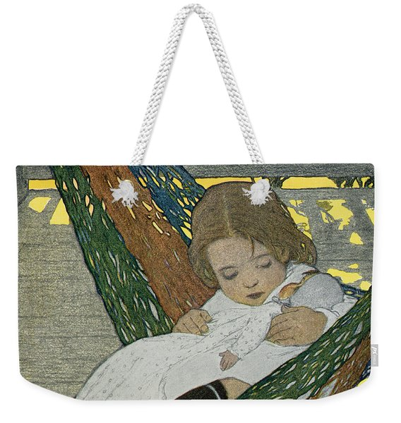 Rocking Baby Doll To Sleep Weekender Tote Bag