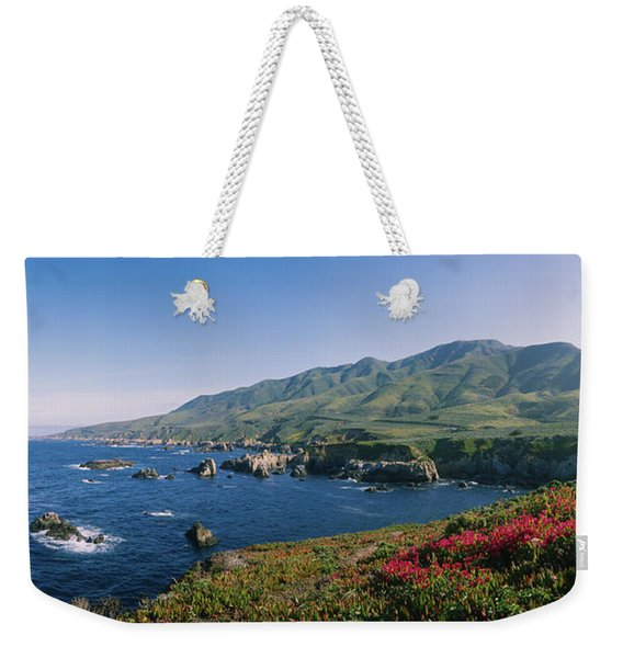 Rocks In The Sea, Carmel, California Weekender Tote Bag