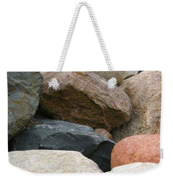 Rocks In Various Colors Weekender Tote Bag