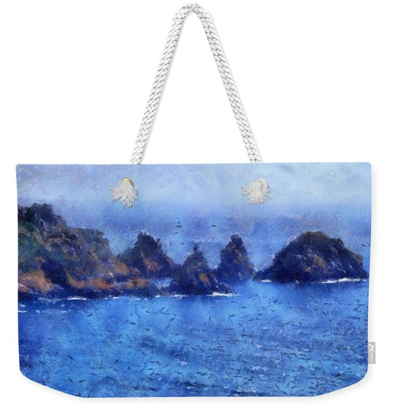Rocks On Isle Of Guernsey Weekender Tote Bag