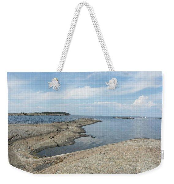 Rocky Coastline In Hamina Weekender Tote Bag