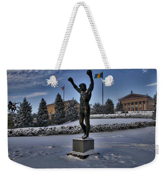 Rocky In The Snow Weekender Tote Bag