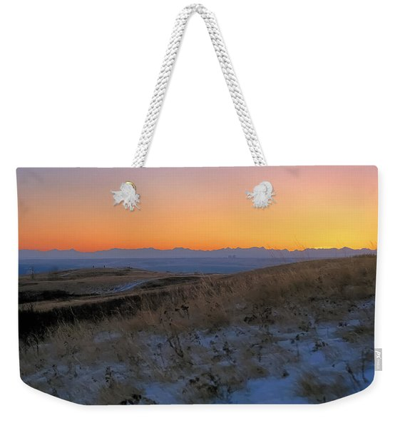 Rocky Mountain Sunset Weekender Tote Bag