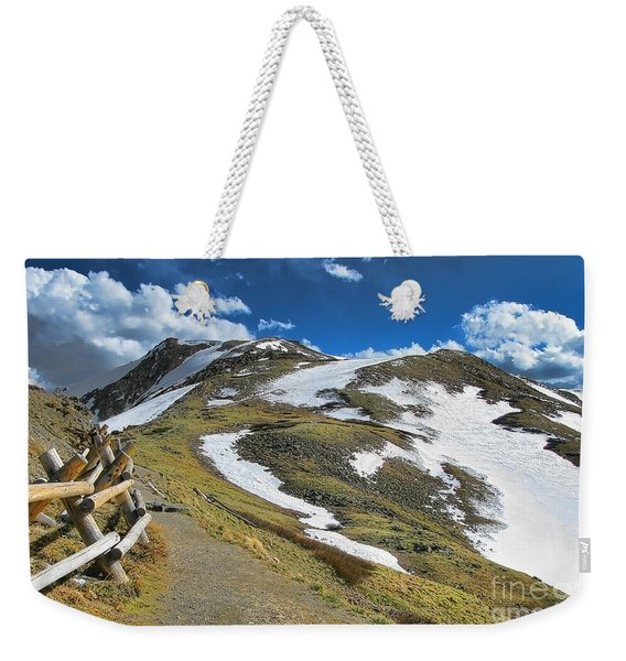 Rocky Mountains Path Weekender Tote Bag