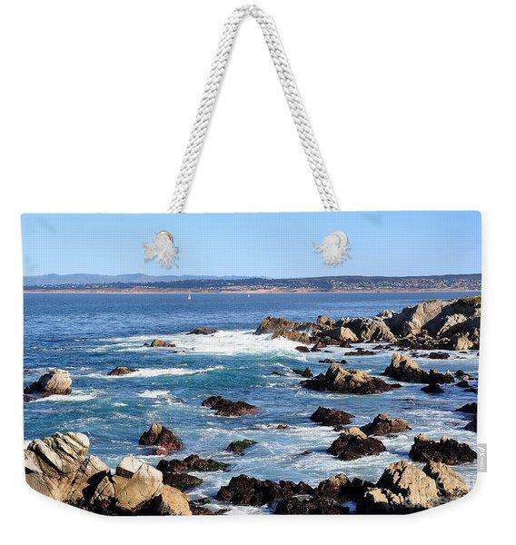 Rocky Remains At Monterey Bay Weekender Tote Bag
