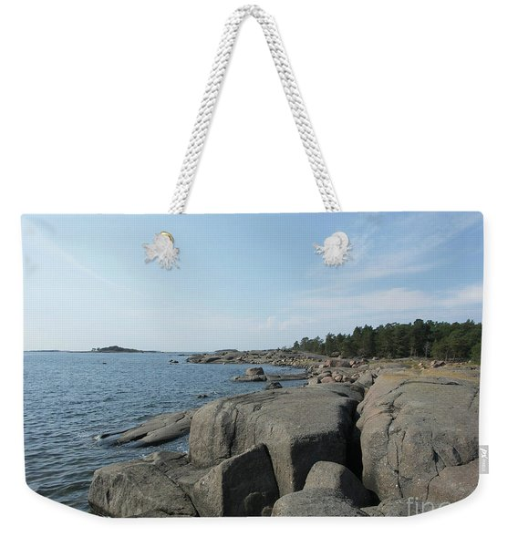 Rocky Seashore 2 In Hamina  Weekender Tote Bag