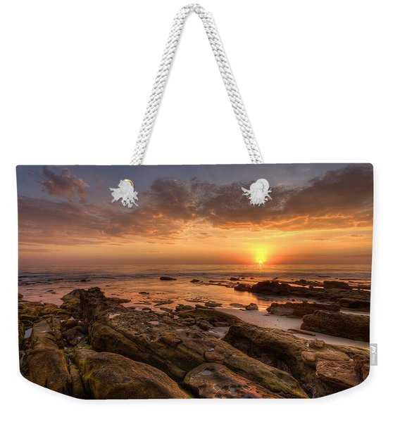 Rocky Sunset Weekender Tote Bag