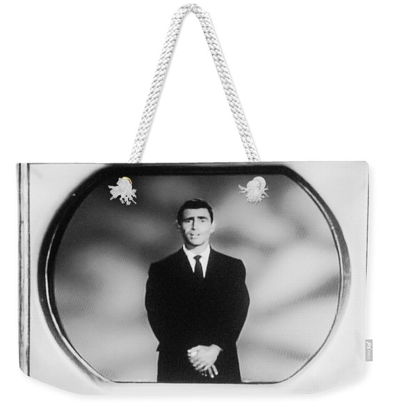 Rod Serling On T V Weekender Tote Bag