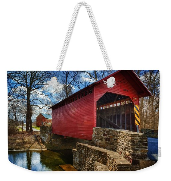 Roddy Road Covered Bridge Weekender Tote Bag