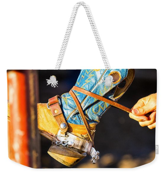 Rodeo Boot Tie Down Weekender Tote Bag
