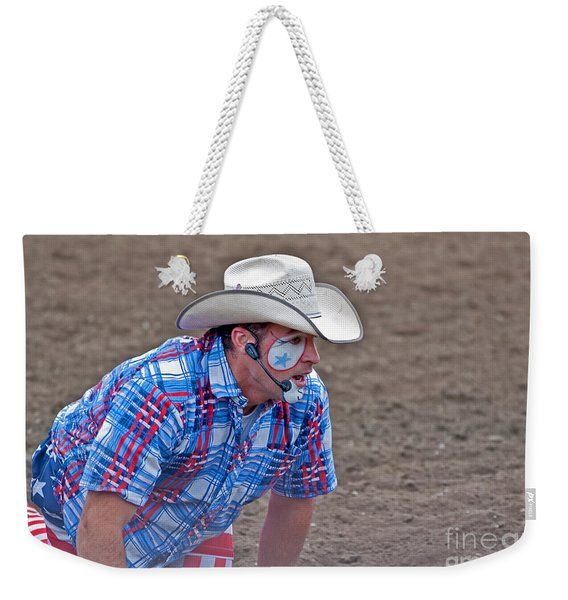 Rodeo Clown Cowboy In Dust Weekender Tote Bag