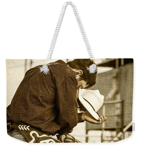 Rodeo Cowboy Prayer Weekender Tote Bag