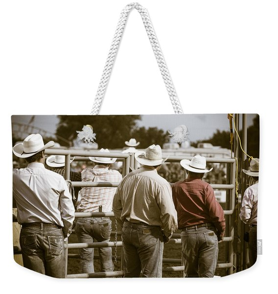 Rodeo Cowboys Weekender Tote Bag