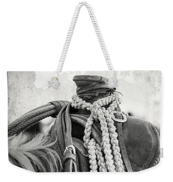 Rodeo Saddle Vintage Weekender Tote Bag