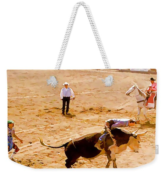 Rodeo Sketch Weekender Tote Bag