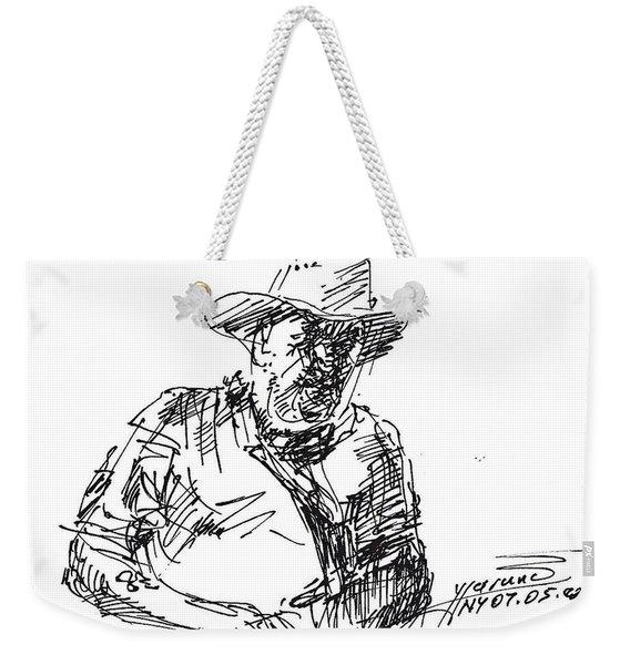 Roger In A Cowboy Hat Weekender Tote Bag