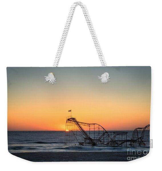 Roller Coaster Sunrise Weekender Tote Bag