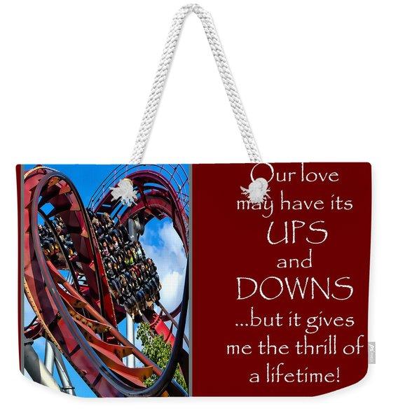Rollercoaster Valentine Weekender Tote Bag