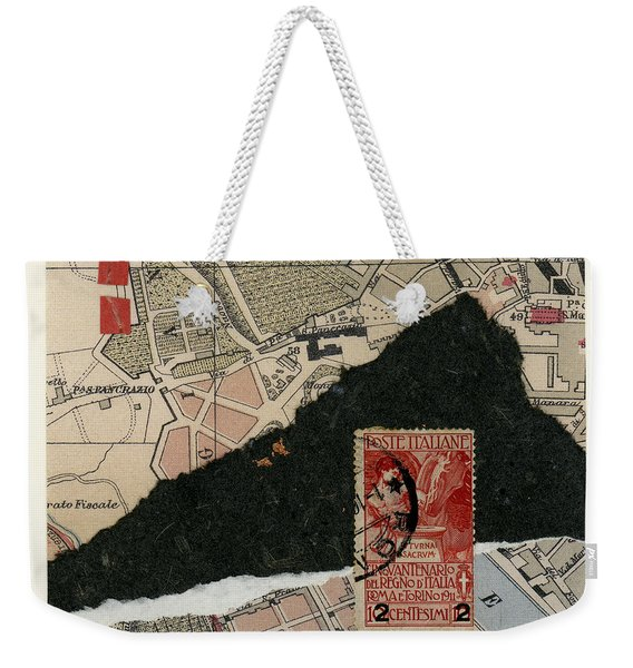 Roman Map Collage Weekender Tote Bag