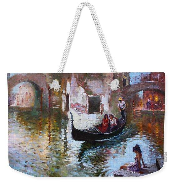 Romance In Venice 2013 Weekender Tote Bag