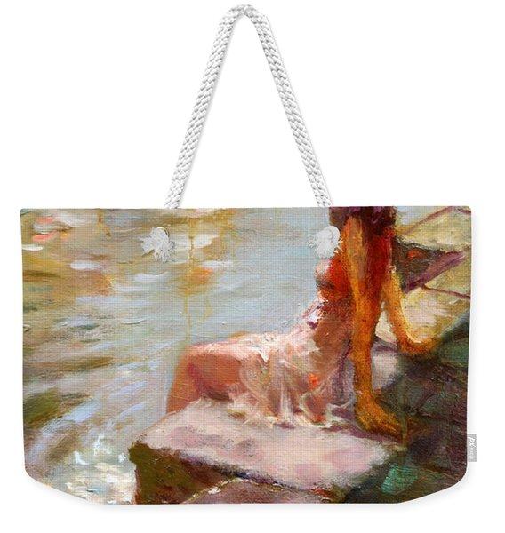 Romance In Venice Viola Weekender Tote Bag