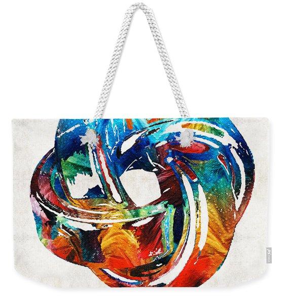 Romantic Love Art - The Love Knot - By Sharon Cummings Weekender Tote Bag