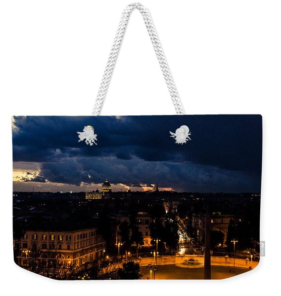 Rome Cityscape At Night  Weekender Tote Bag
