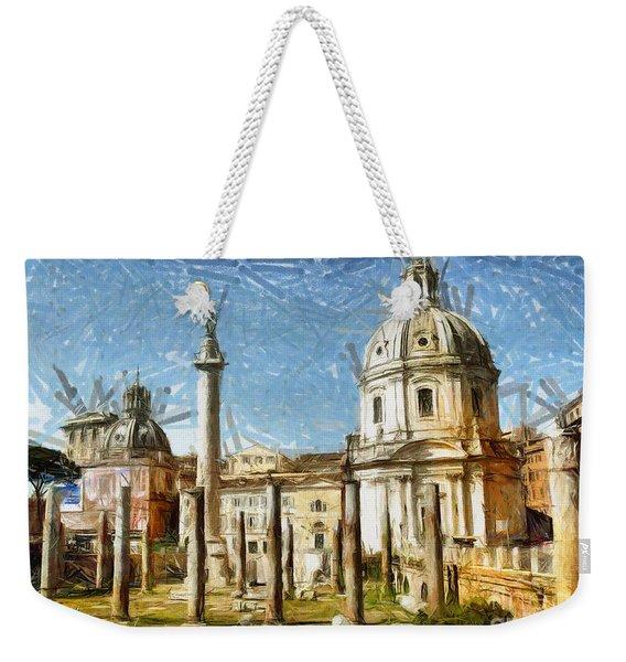 Rome Italy - Drawing Weekender Tote Bag