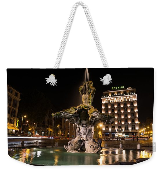 Rome's Fabulous Fountains - Bernini's Fontana Del Tritone Weekender Tote Bag