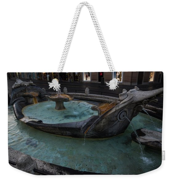 Rome's Fabulous Fountains - Fontana Della Barcaccia At The Spanish Steps  Weekender Tote Bag