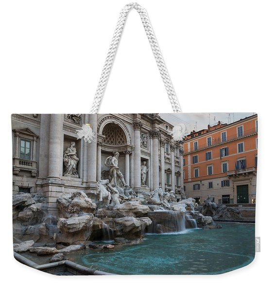 Rome's Fabulous Fountains - Trevi Fountain No Tourists Weekender Tote Bag