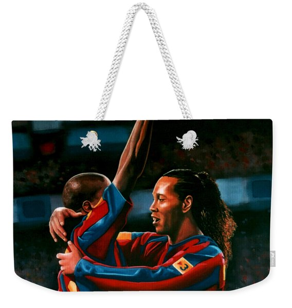 Ronaldinho And Eto'o Weekender Tote Bag