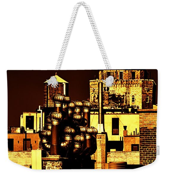 Roof Yellow Orange Weekender Tote Bag