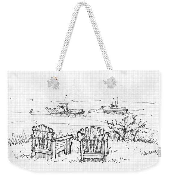 Room For Two Monhegan Island 1993 Weekender Tote Bag