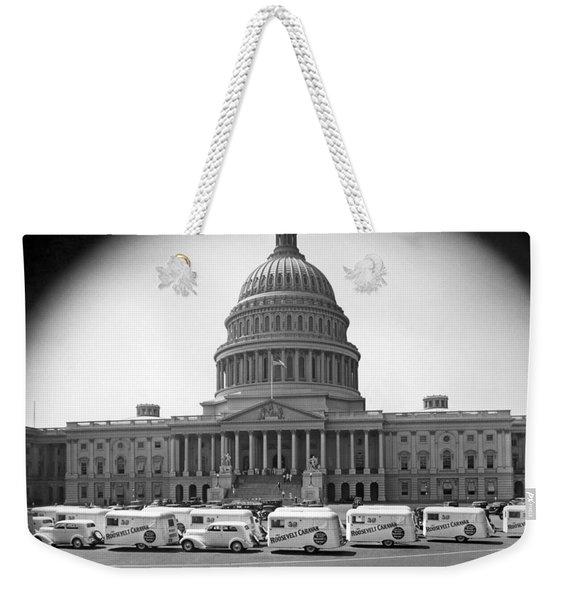 Roosevelt Caravan Trailers Weekender Tote Bag