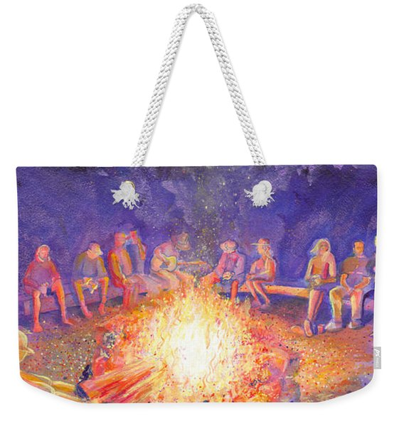 Roots Retreat Campfire Jam Weekender Tote Bag