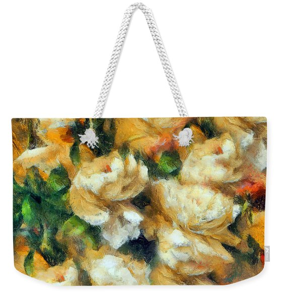 Rose Garden Abstract Expressionism Weekender Tote Bag