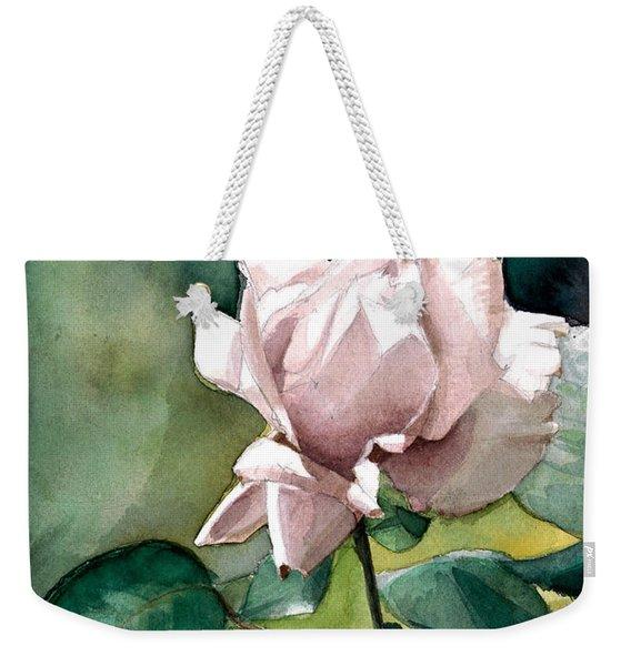 Watercolor Of A Lilac Rose  Weekender Tote Bag