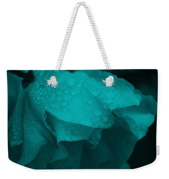 Rose In Turquoise Weekender Tote Bag