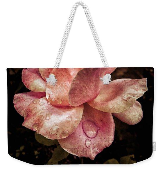 Rose Petals With Raindrops Weekender Tote Bag