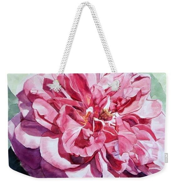 Watercolor Of A Pink Rose In Full Bloom Dedicated To Van Gogh Weekender Tote Bag