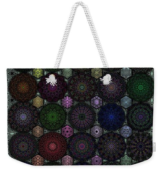 Rose Window Kaleidoscope Quilt Weekender Tote Bag