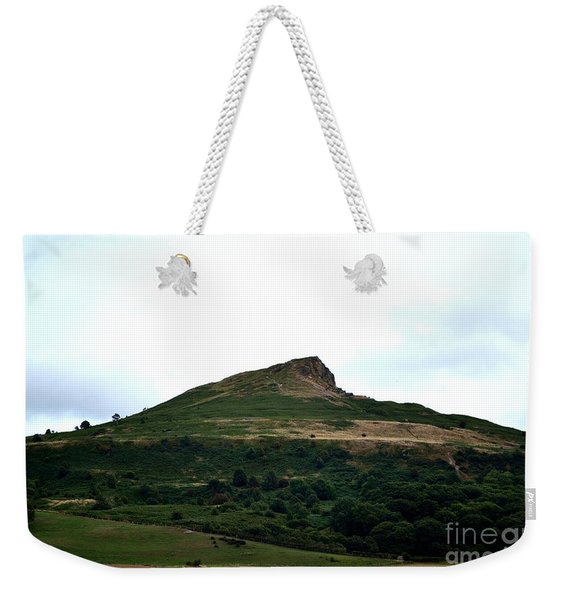 Weekender Tote Bag featuring the photograph Roseberry Topping Hill by Scott Lyons