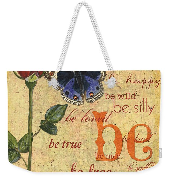Roses And Butterflies 1 Weekender Tote Bag
