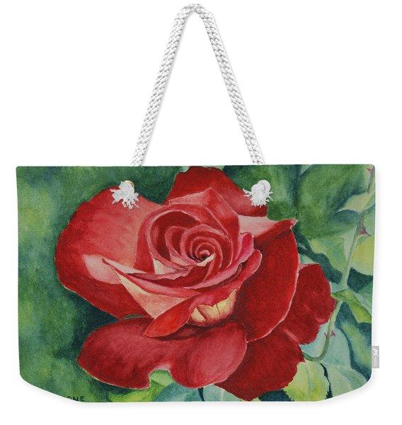 Roses Are Red Weekender Tote Bag