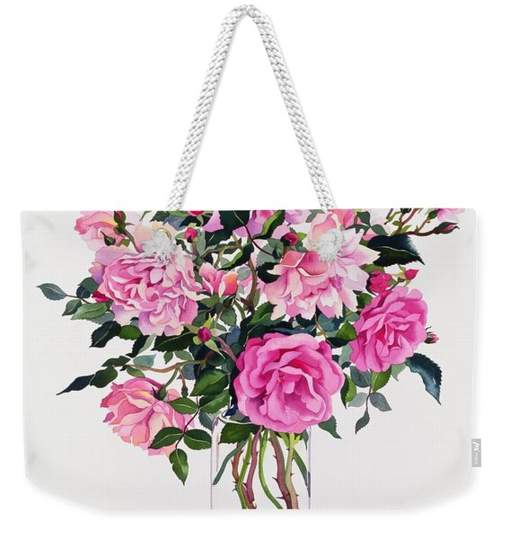 Roses In A Glass Jar  Weekender Tote Bag