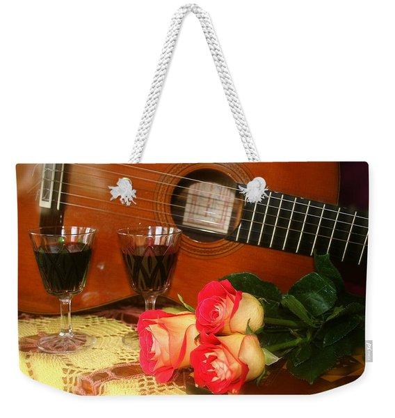 Guitar 'n Roses Weekender Tote Bag
