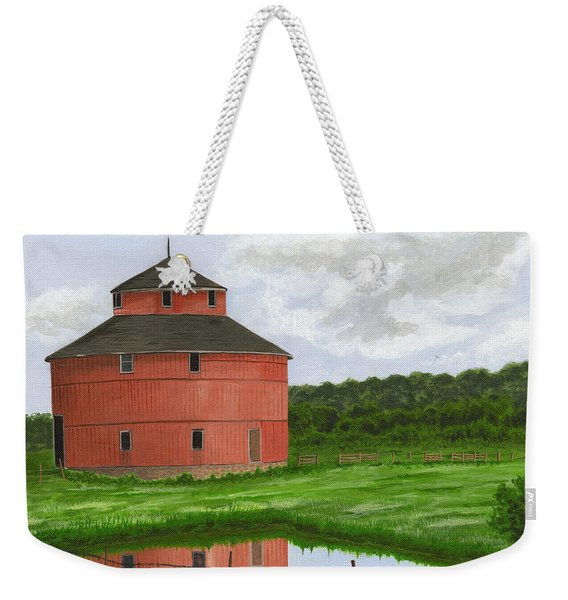 Round Barn Weekender Tote Bag